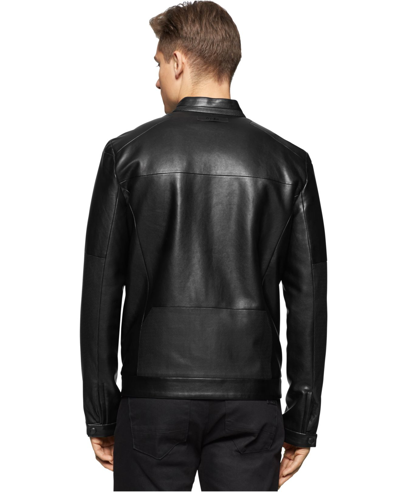 Calvin Klein Faux Leather Jacket