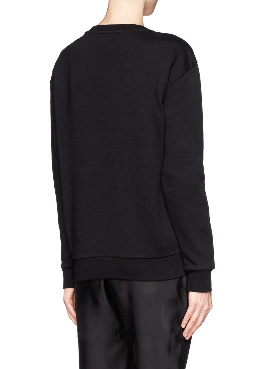 Lyst stella mccartney horse embroidery fleece sweatshirt