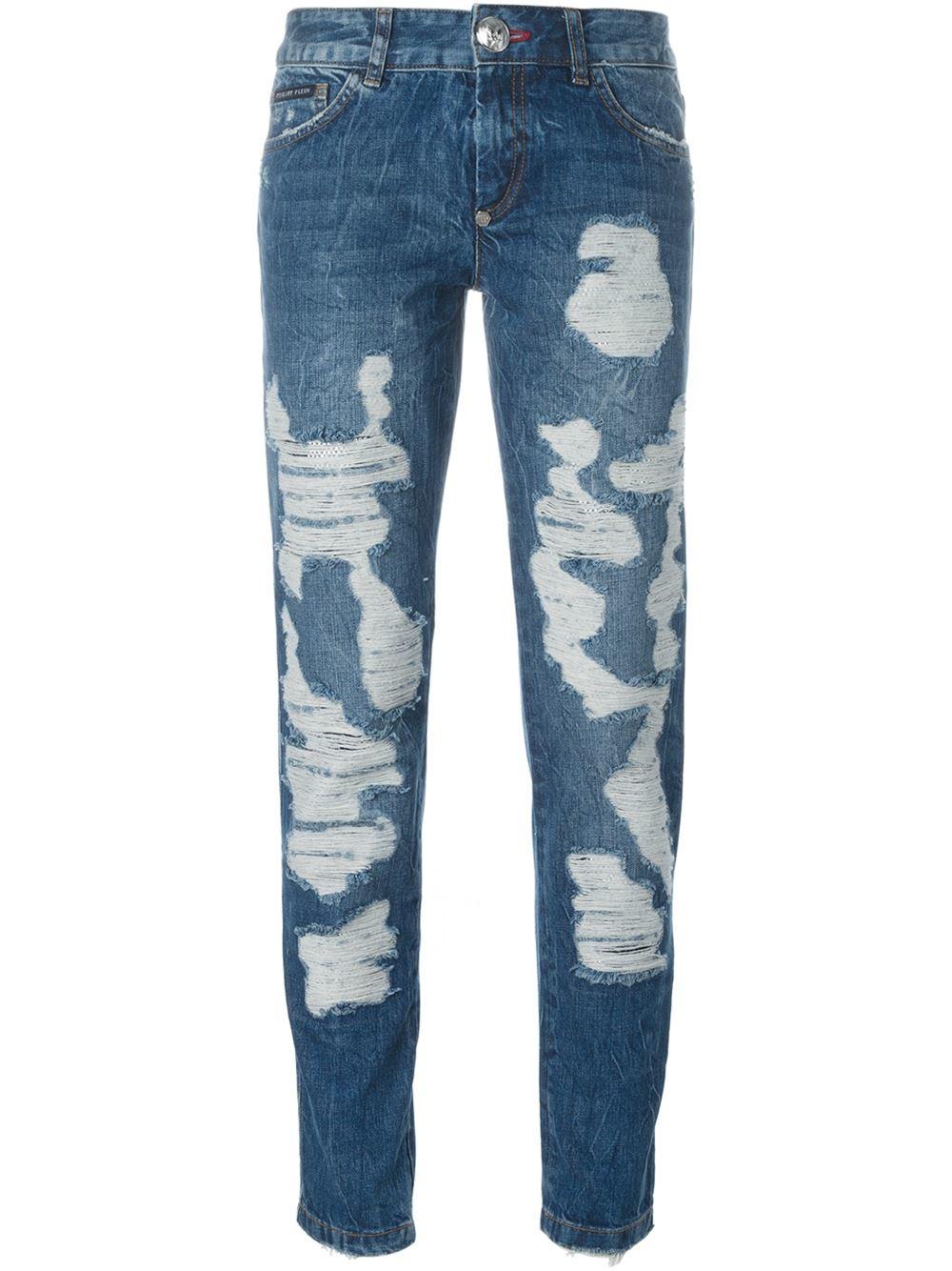 philipp plein 39 forgiveness 39 boyfriend jeans in blue lyst. Black Bedroom Furniture Sets. Home Design Ideas