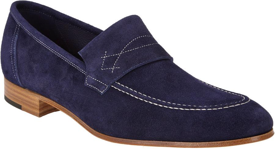 6ee1e88d799 John Lobb Yardley Aprontoe Loafers in Blue for Men - Lyst