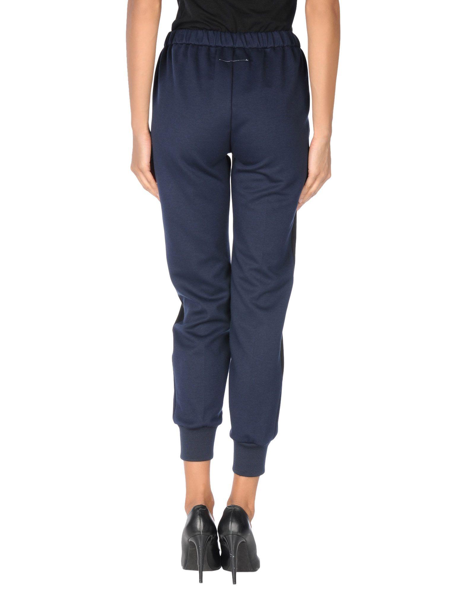 Lyst mm6 by maison martin margiela casual pants in blue for 10 moulmein rise la maison