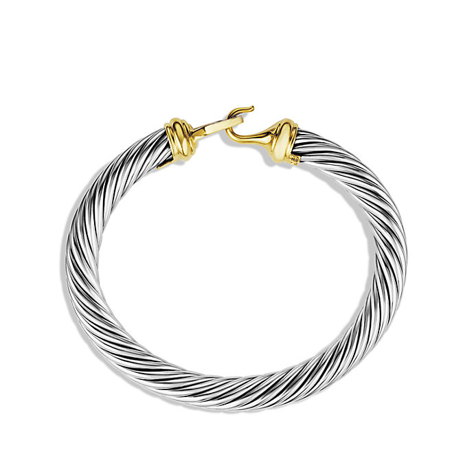 Lyst David Yurman Cable Buckle Bracelet With Diamonds