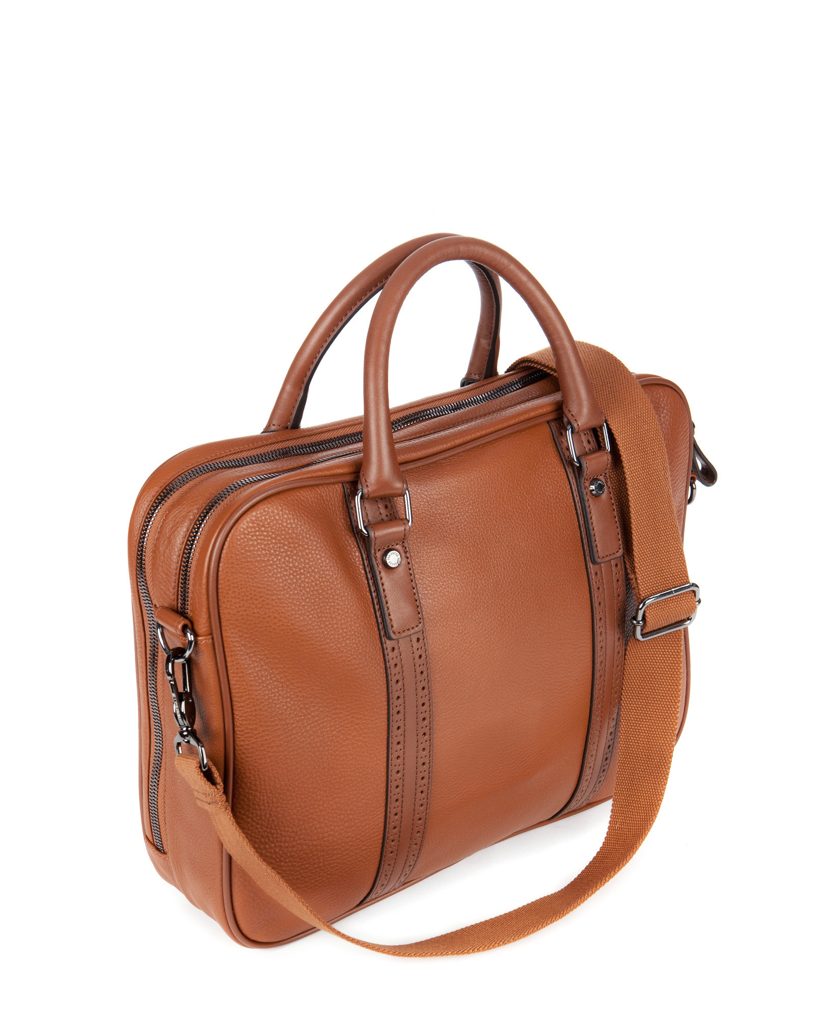 Ted baker leather document bag in brown for men lyst for Ted baker london leather document bag