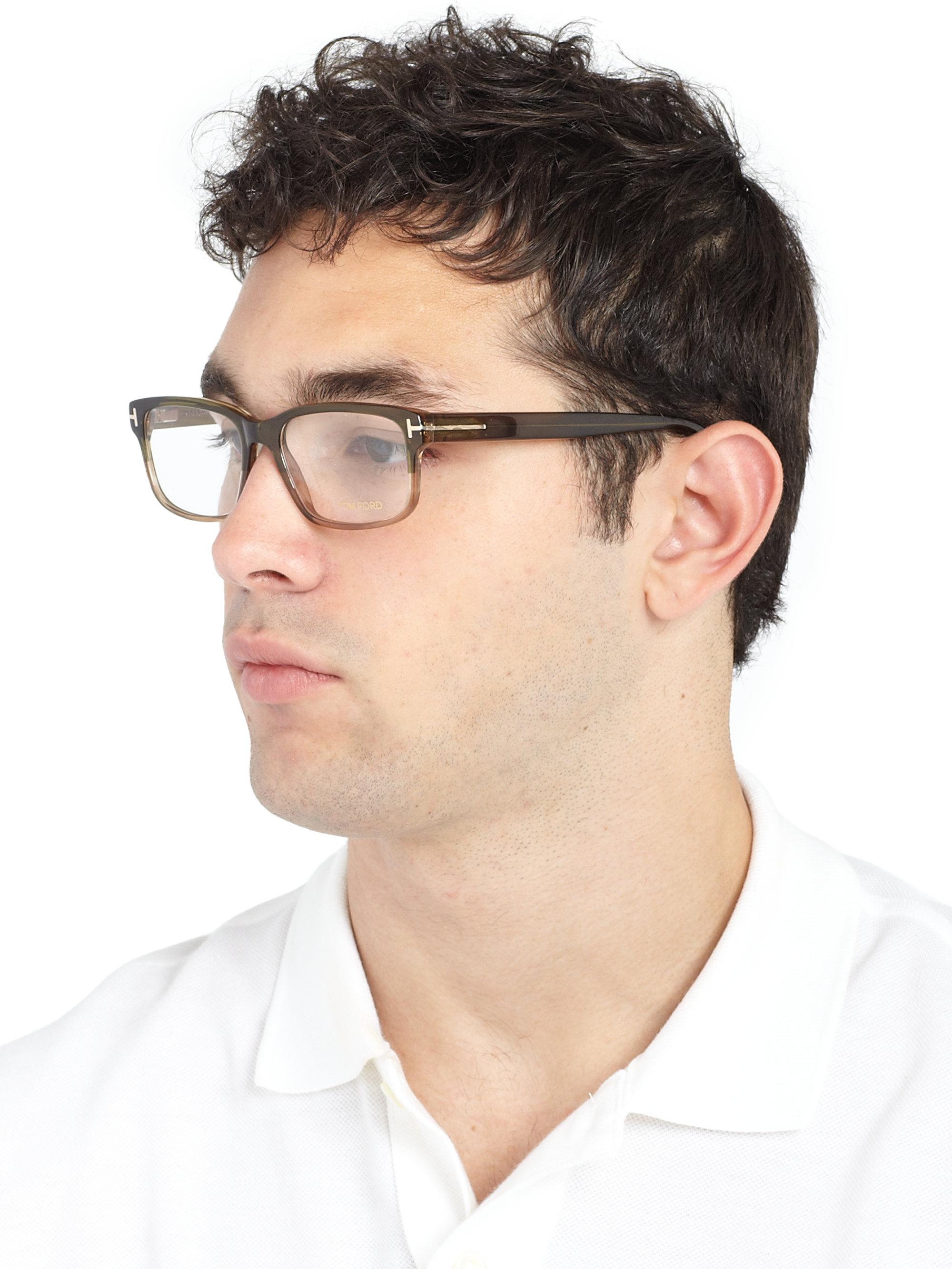 Tom Ford 5313 Square Optical Frames In Green For Men Lyst