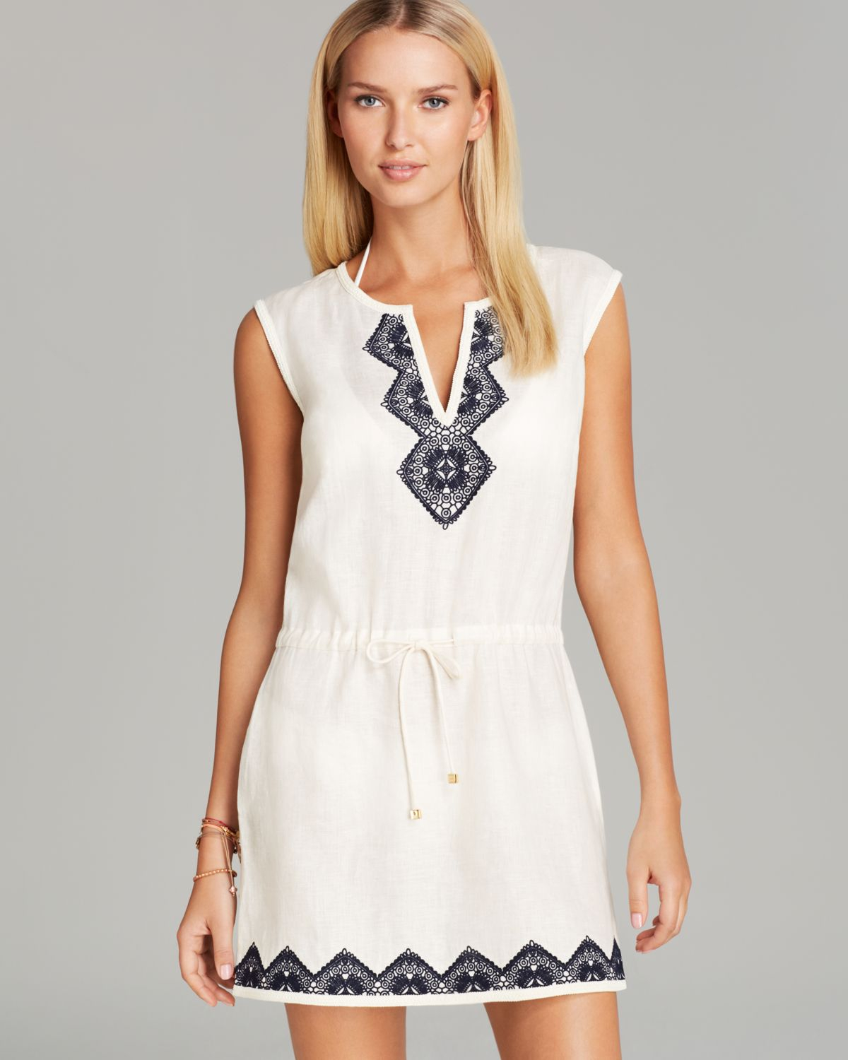 Lyst - Tory Burch Mergherita Swim Cover Up Dress in White 036df3ec6