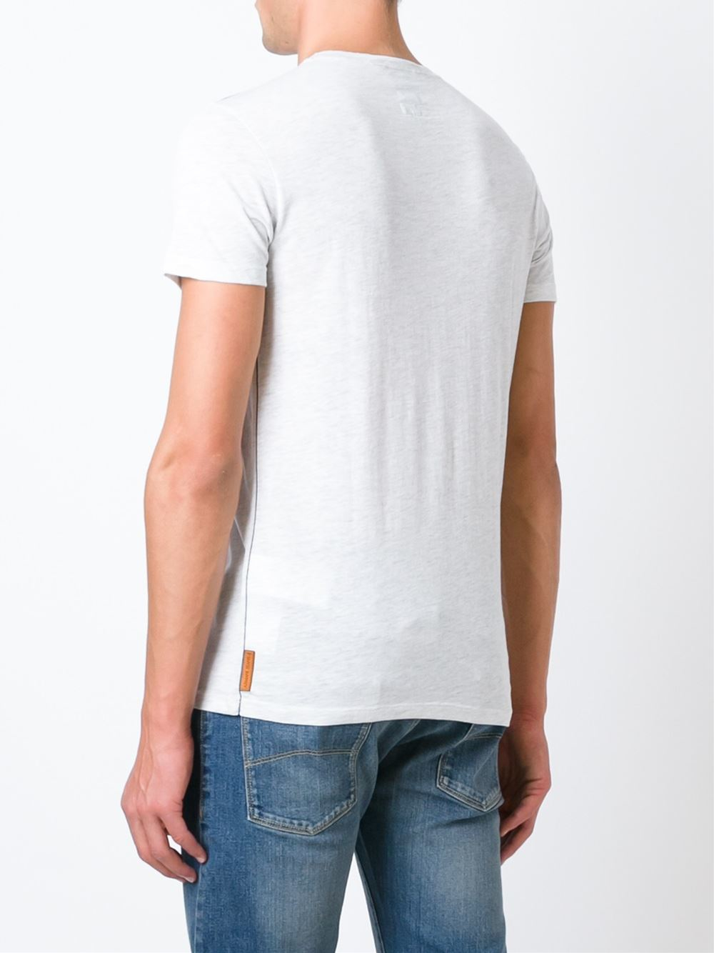 Lyst - Armani Jeans Printed T-shirt in Gray for Men