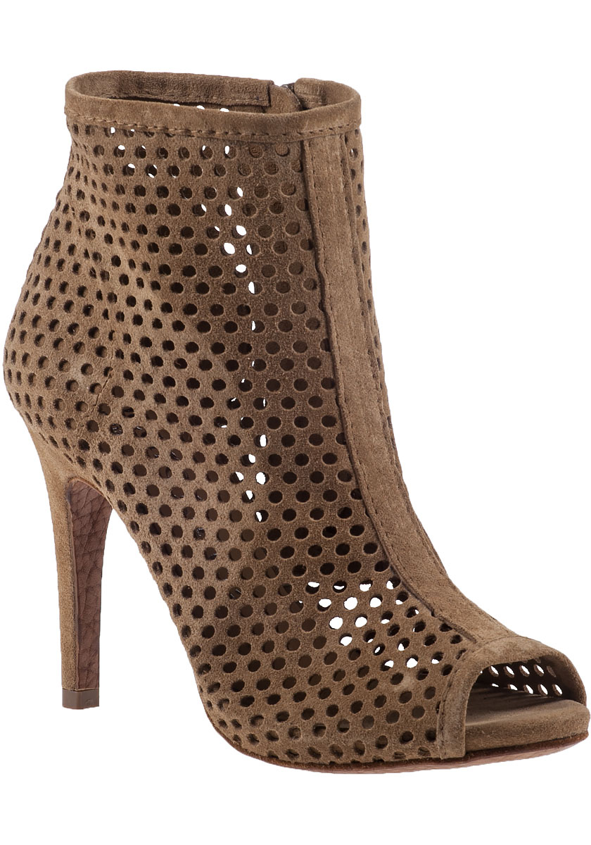 pedro garcia sylvana ankle boot suede in brown lyst