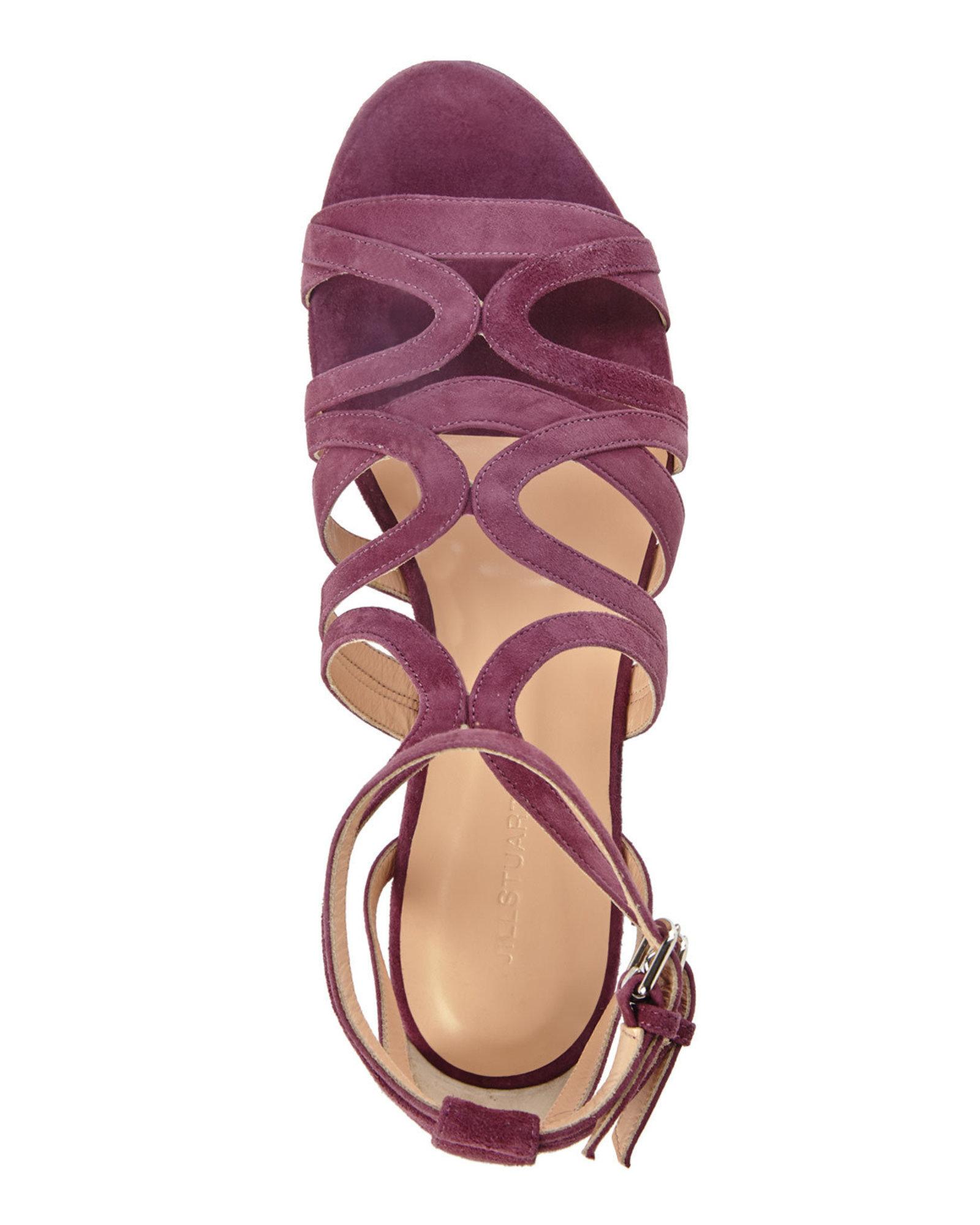 Lyst Jill Stuart Raspberry Farah Flat Sandal In Purple
