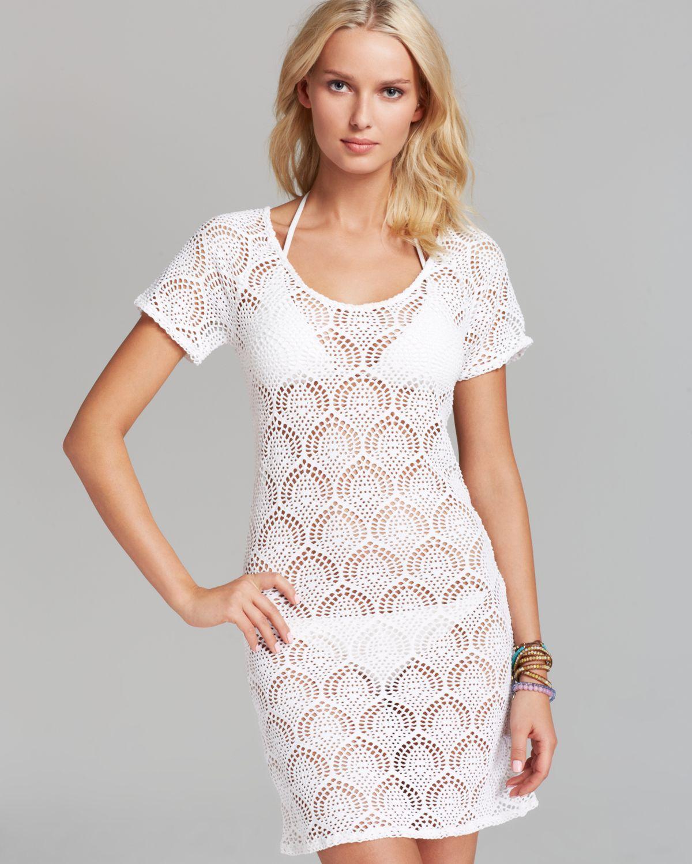 4b6a5c91e2 Lyst - La Blanca Casablanca Crochet Swim Cover Up Dress in White