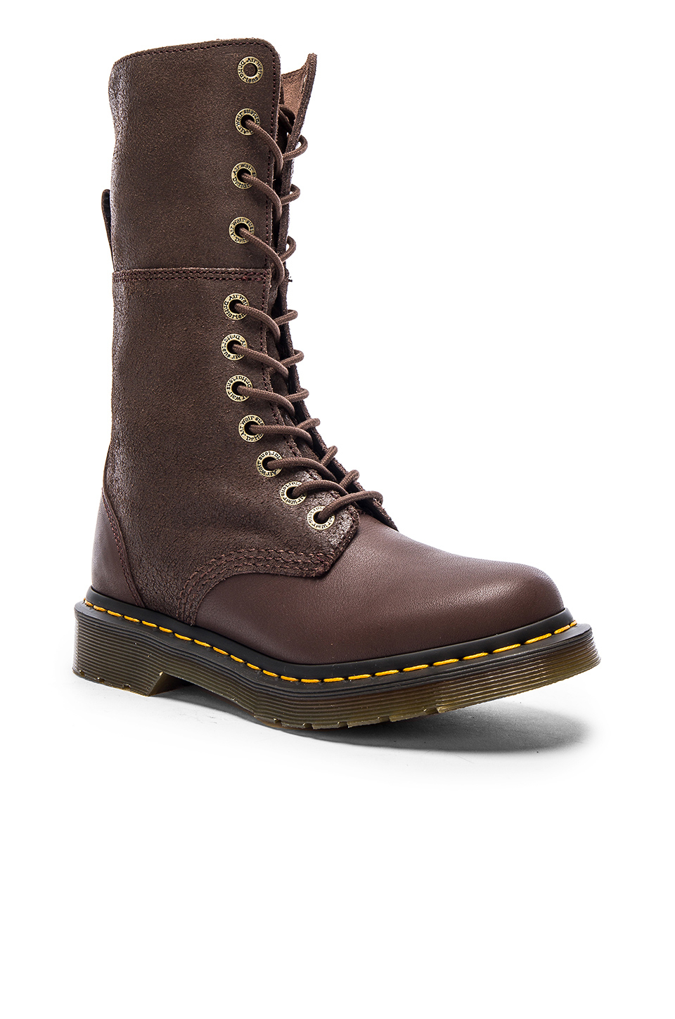 Dr Martens Hazil Tall Slouch Boot In Brown Lyst