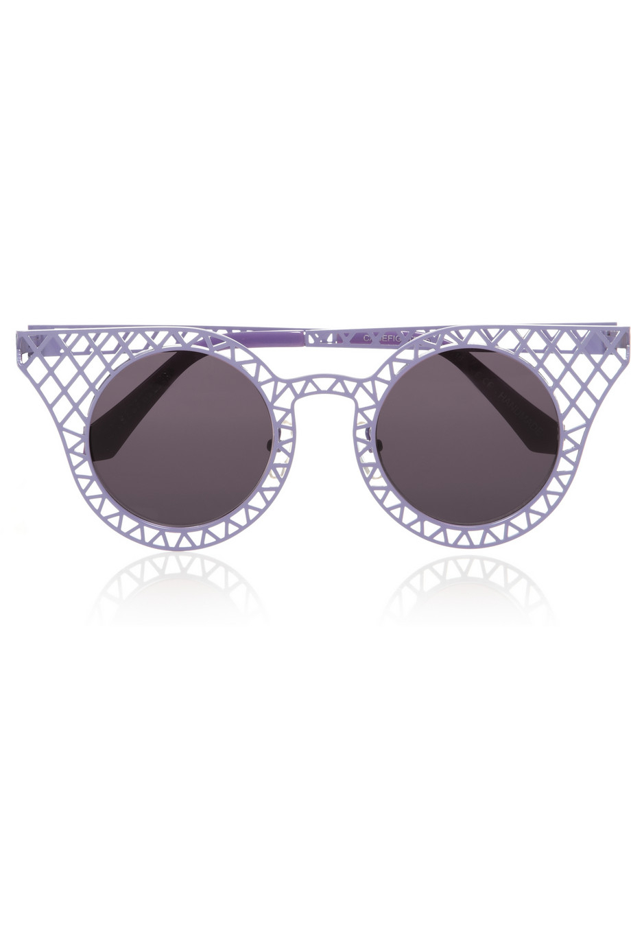 House of Holland Cagefighters Roundframe Latticed Metal Sunglasses in Lavender (Purple)