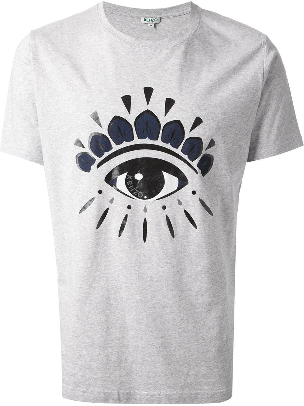 1699e7d8e5 KENZO Gray Eye Print T-shirt for men