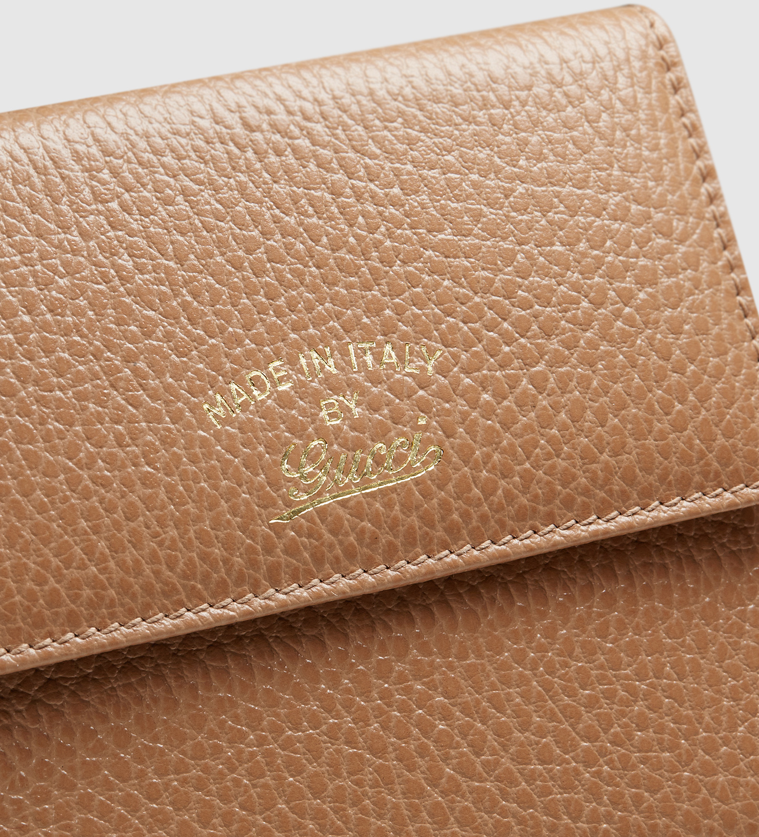 50bdfce07c4 Lyst - Gucci Swing Leather French Flap Wallet in Brown