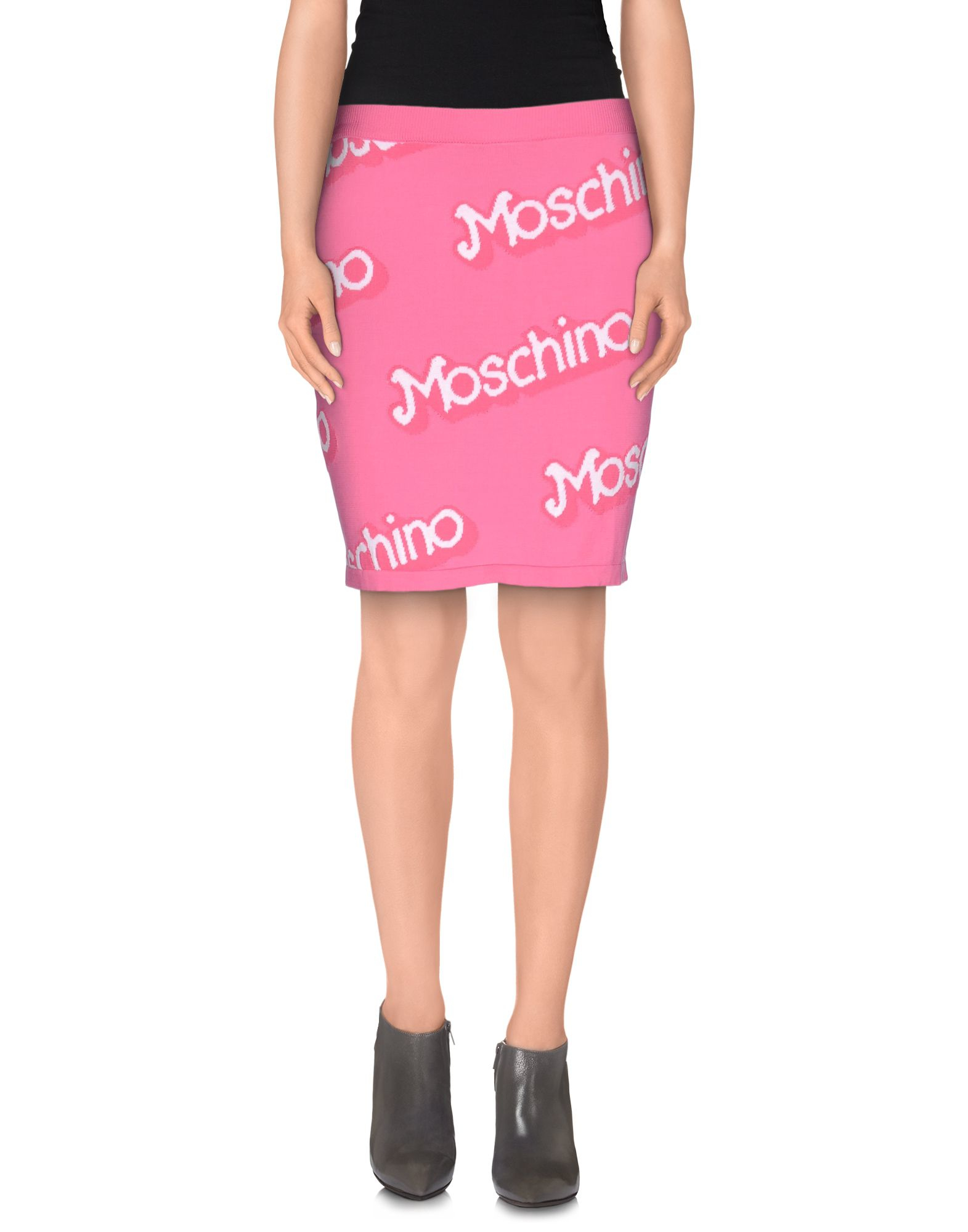 moschino couture knee length skirt in purple lyst