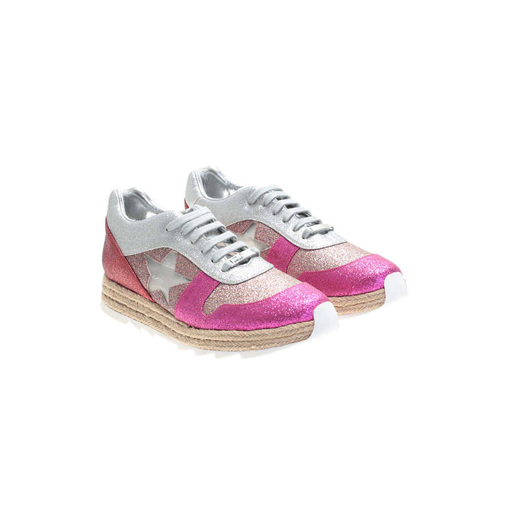 Stella McCartney Multicoloured Eco Leather Sneakers in Pink