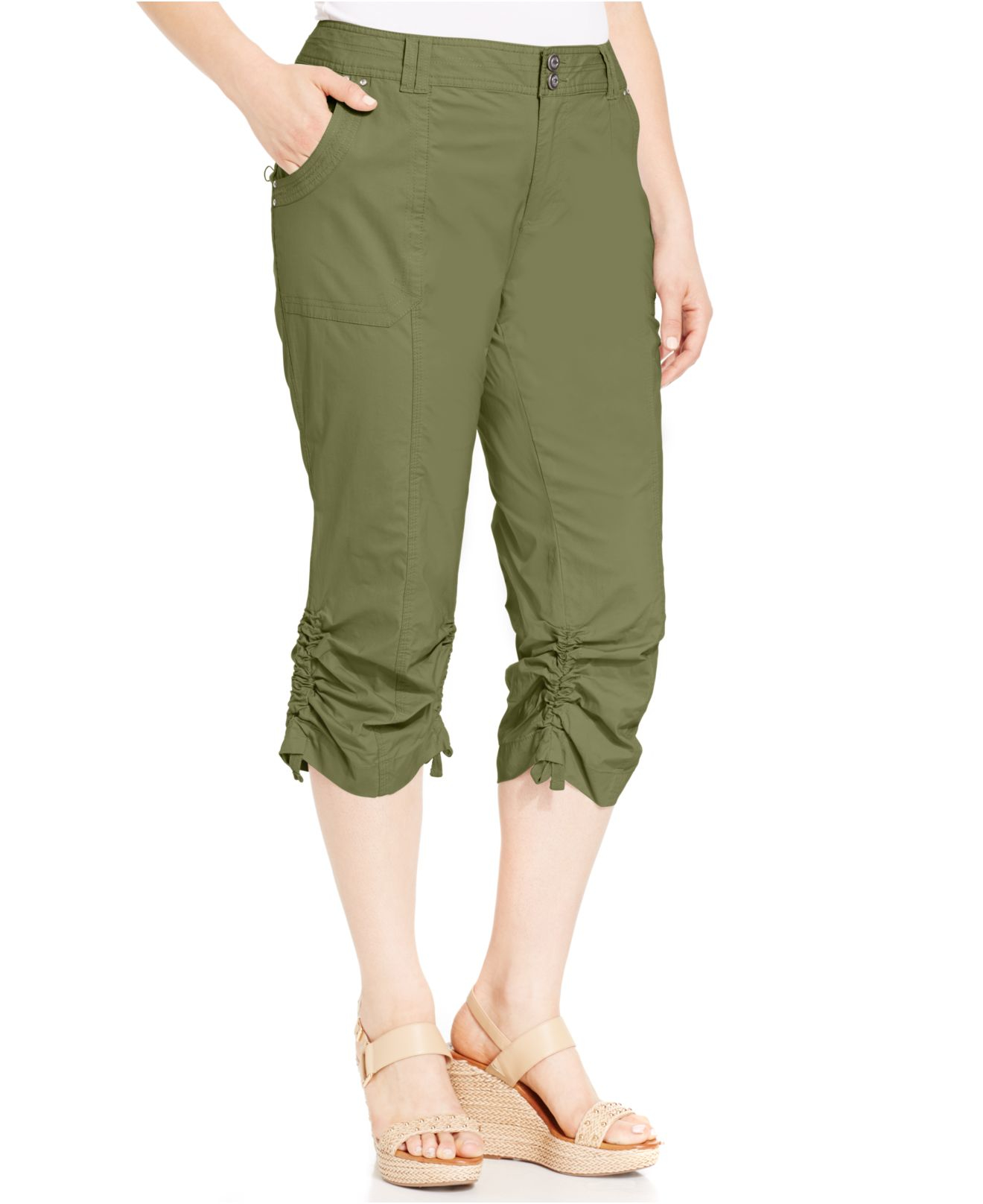 Inc international concepts Plus Size Ruched Cargo Pants in ...