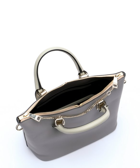 Chlo�� Grey Leather \u0026#39;Baylee\u0026#39; Convertible Tote Bag in Gray (grey) | Lyst