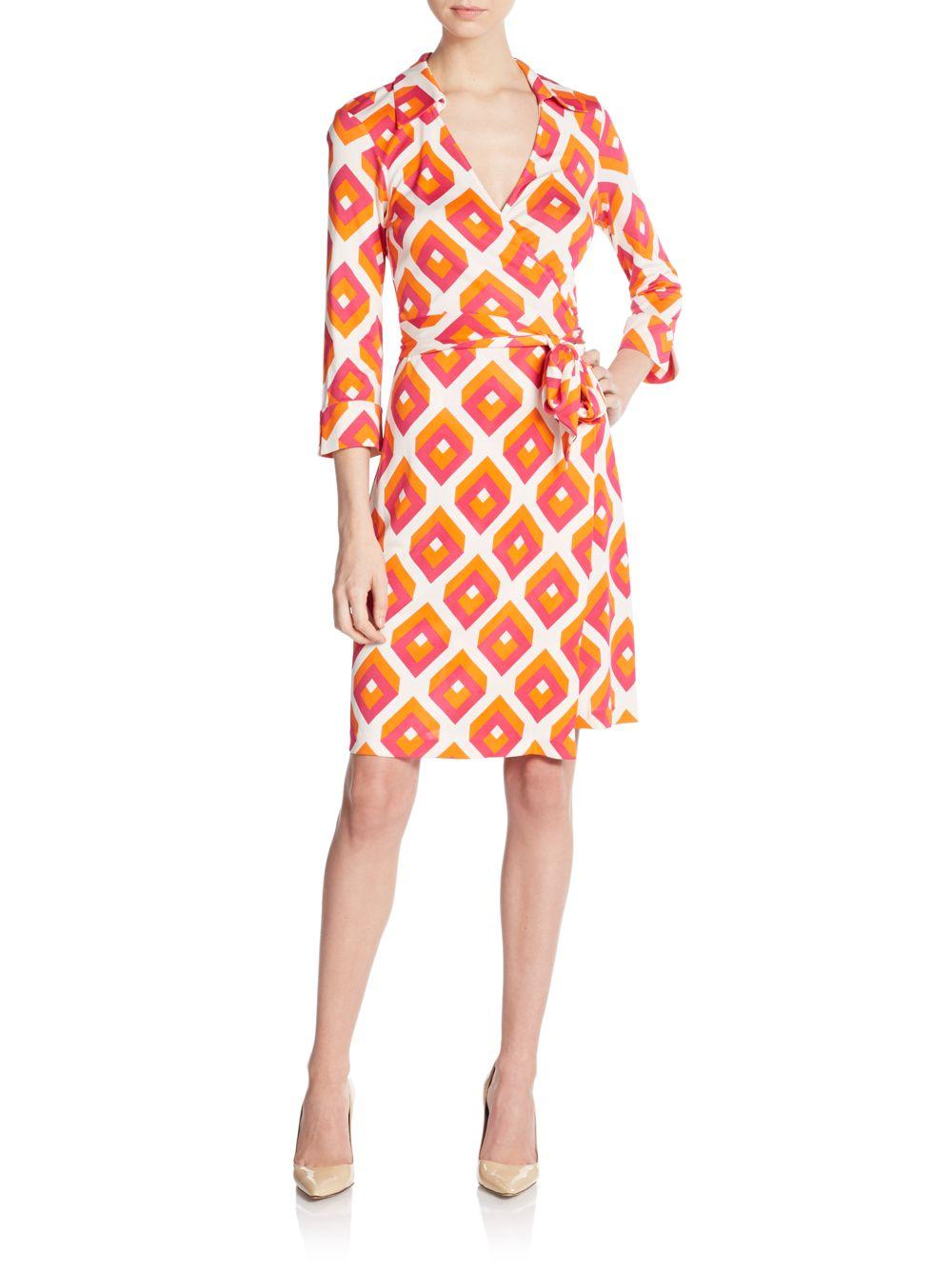 Diane Von Furstenberg Justin Silk Jersey Wrap Dress In