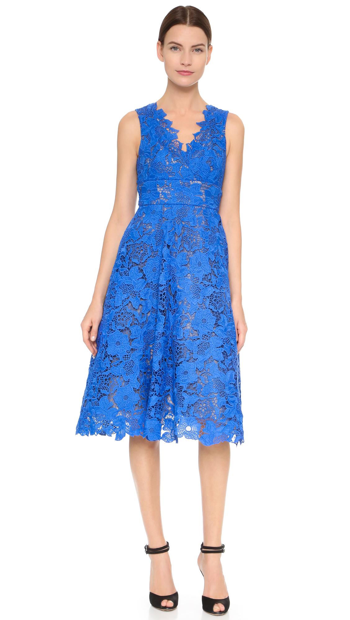 tea length royal blue dresses