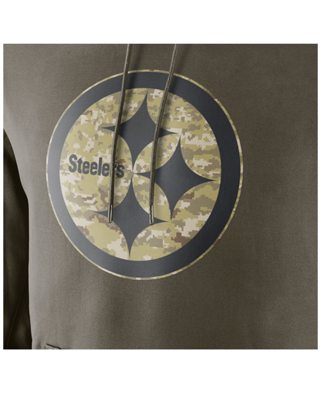 premium selection c2422 a05f8 Nike Green Men's Pittsburgh Steelers Salute To Service Ko Hoodie for men