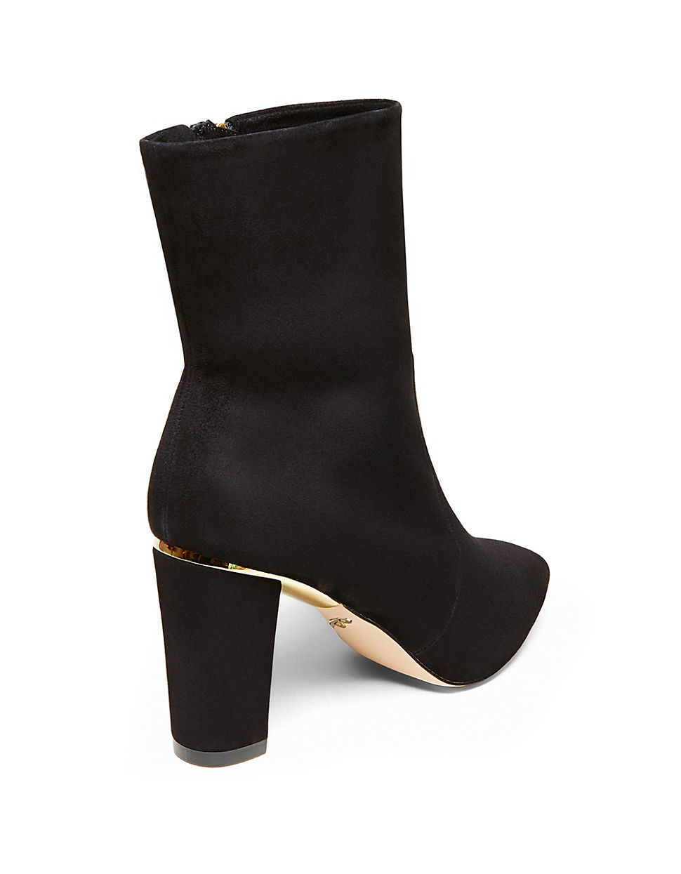 b brian atwood suede ankle boots in black lyst