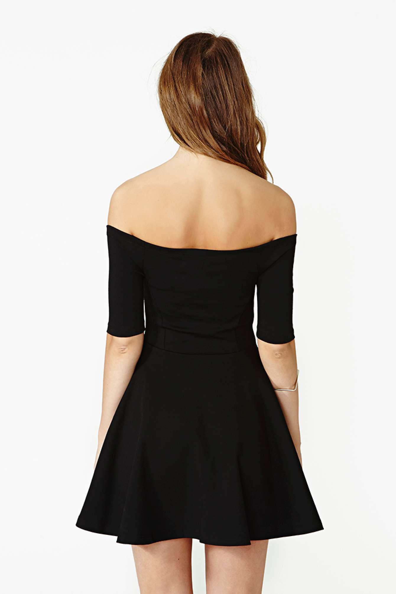 Nasty Gal Hot Ticket Skater Dress In Black Lyst