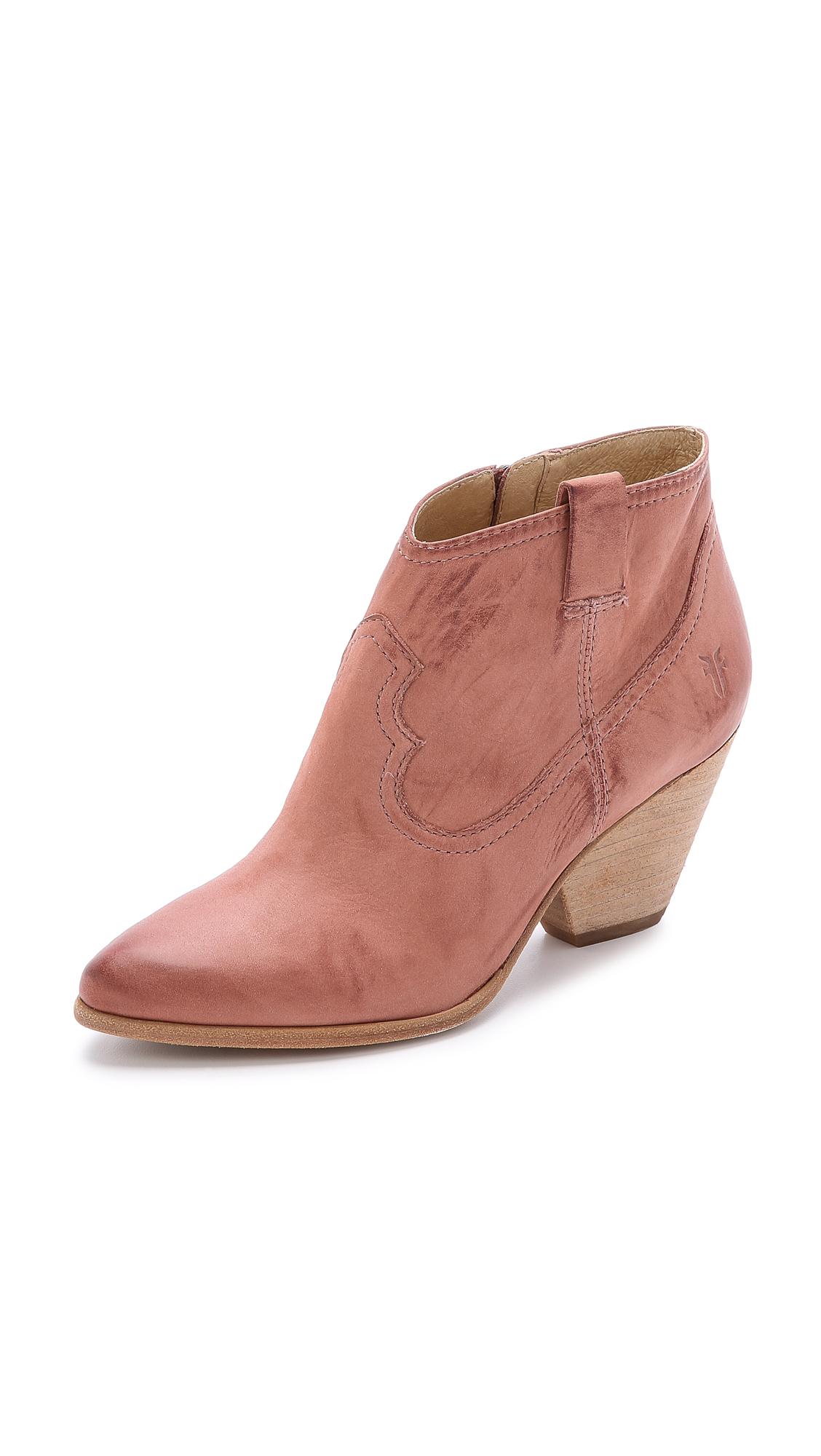 Lyst Frye Reina Booties Dusty Rose In Pink