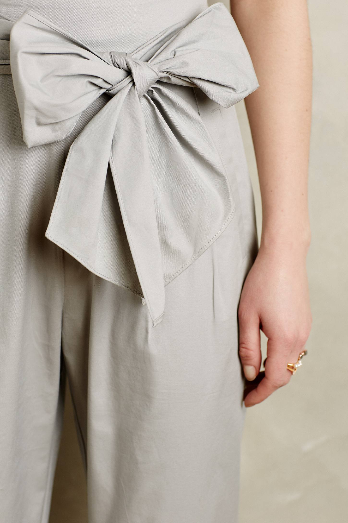 Lyst Cartonnier Bowtied Paperbag Cropped Trousers In Gray