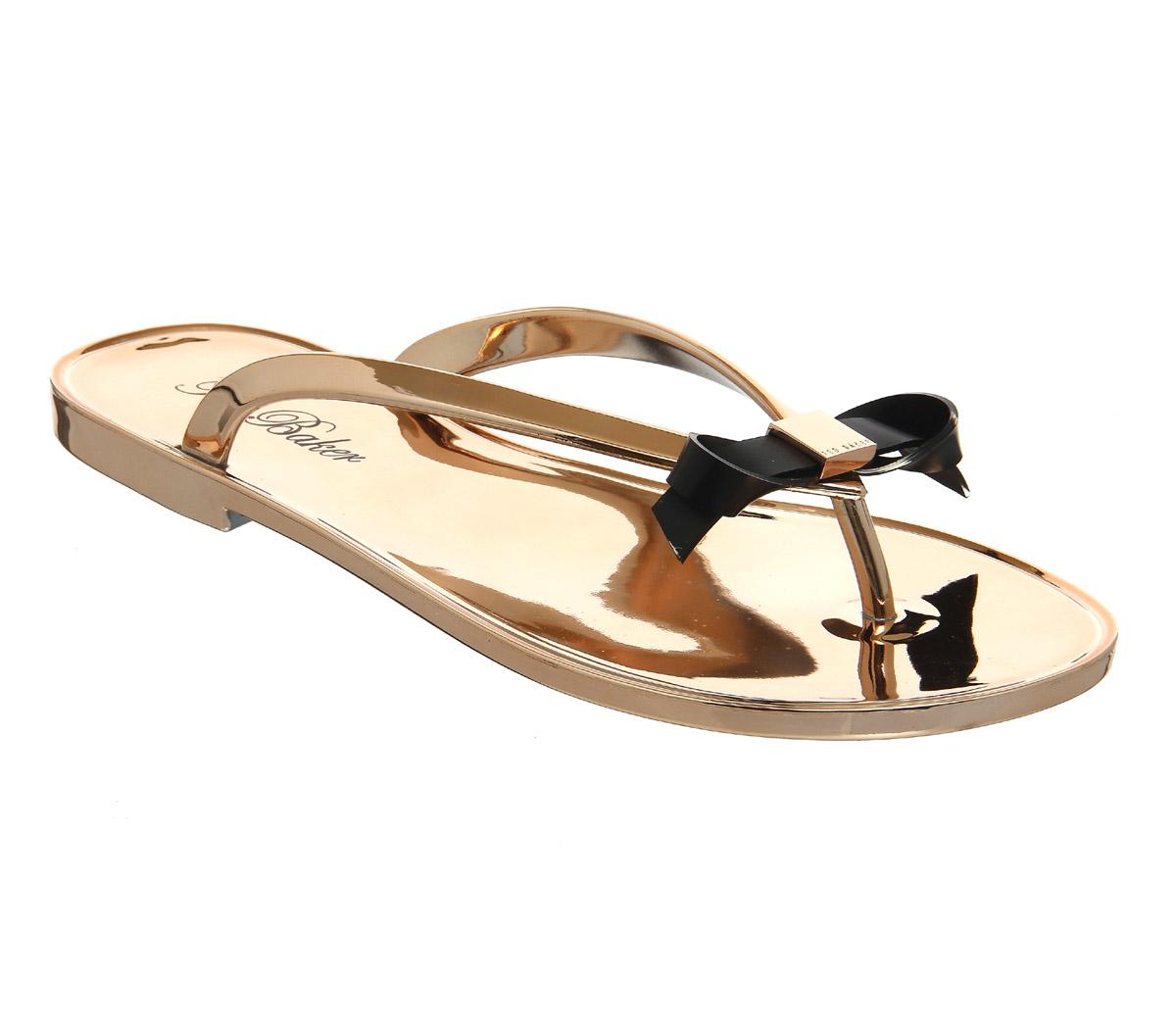 c8eab6008 Lyst - Ted Baker Heebei Sandals in Metallic
