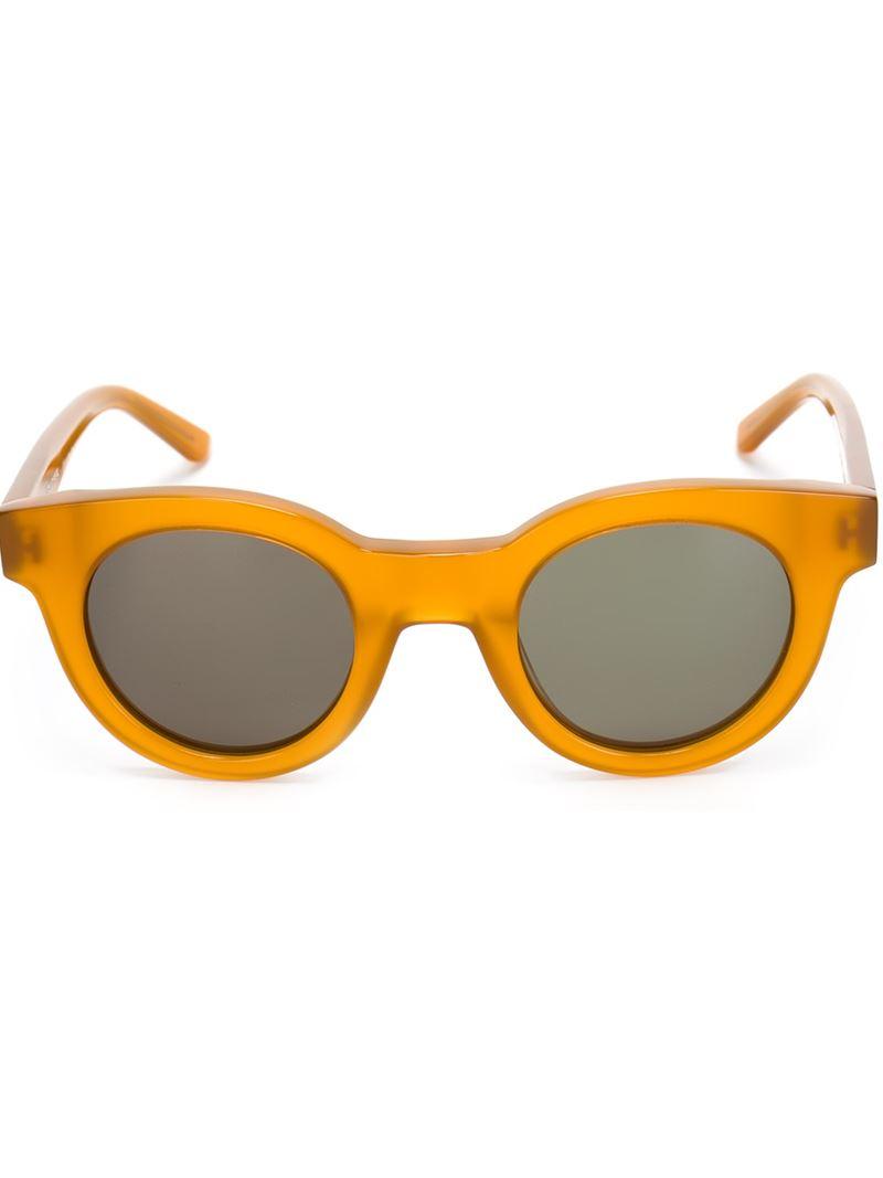 Sun Buddies 'type 02' Sunglasses in Yellow & Orange (Yellow)