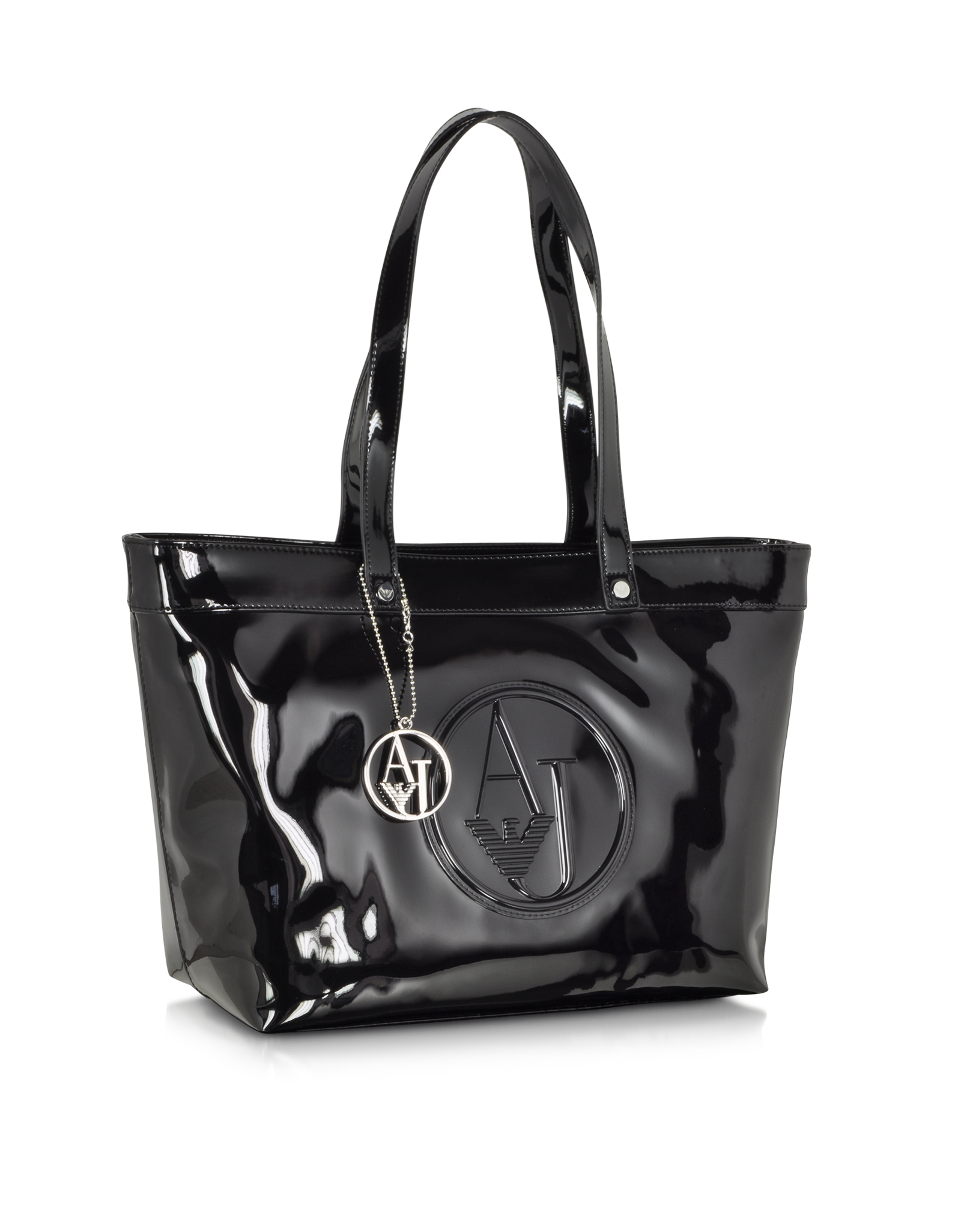 efe8d43f387f Black Patent Leather Large Tote Bag | Stanford Center for ...