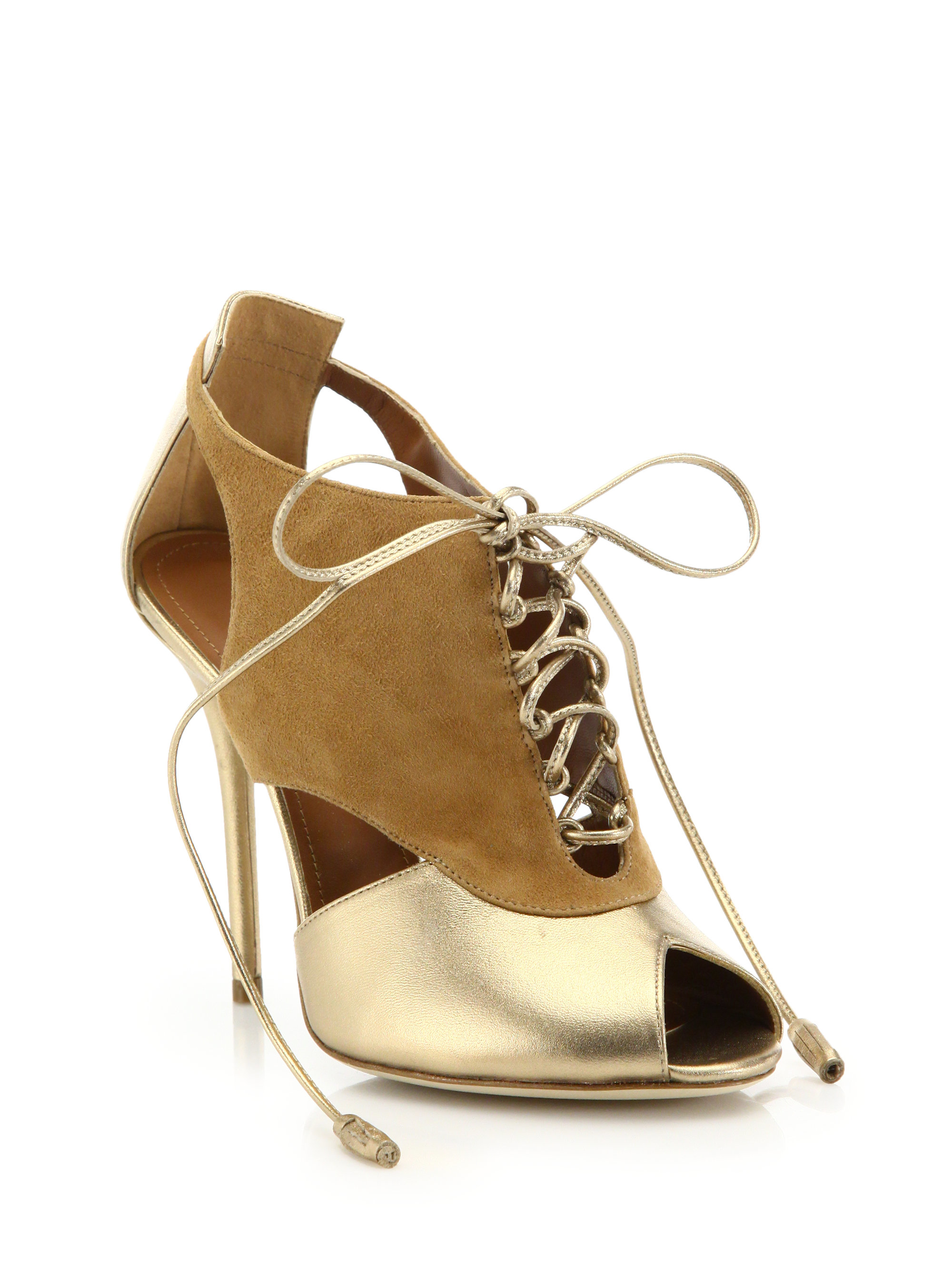 Lyst Malone Souliers Wanda Leather And Suede Boots In