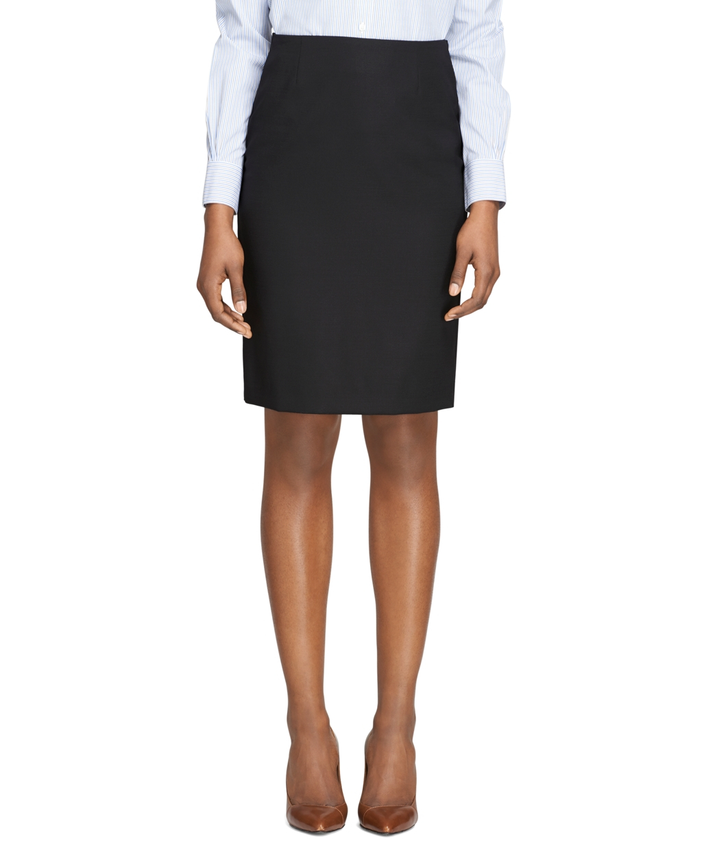 brothers wool pencil skirt in black lyst