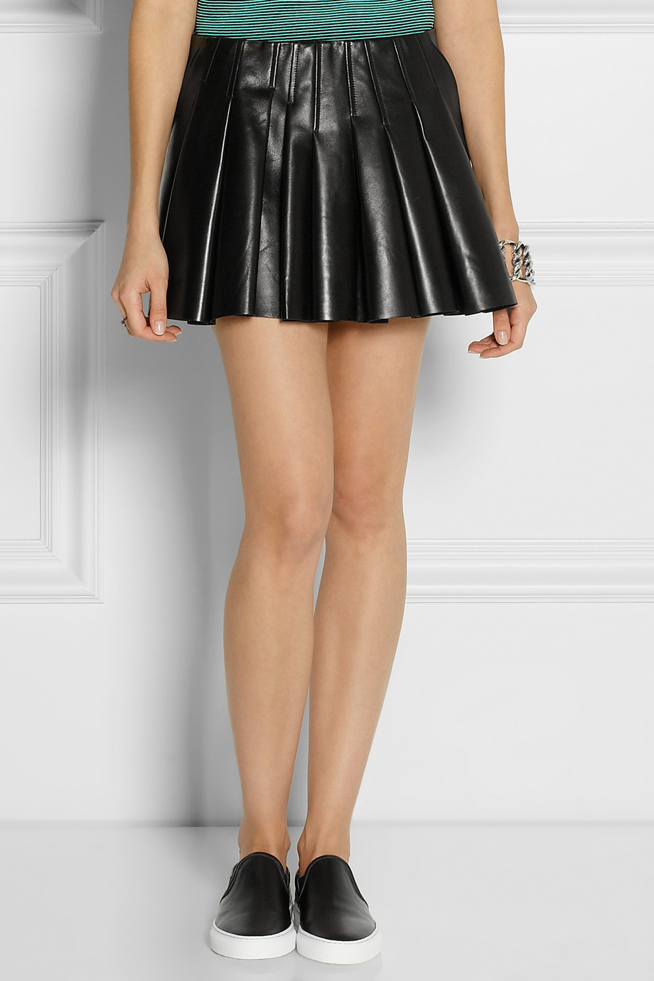 Alexander wang leather pleated skirt – Modern skirts blog for you