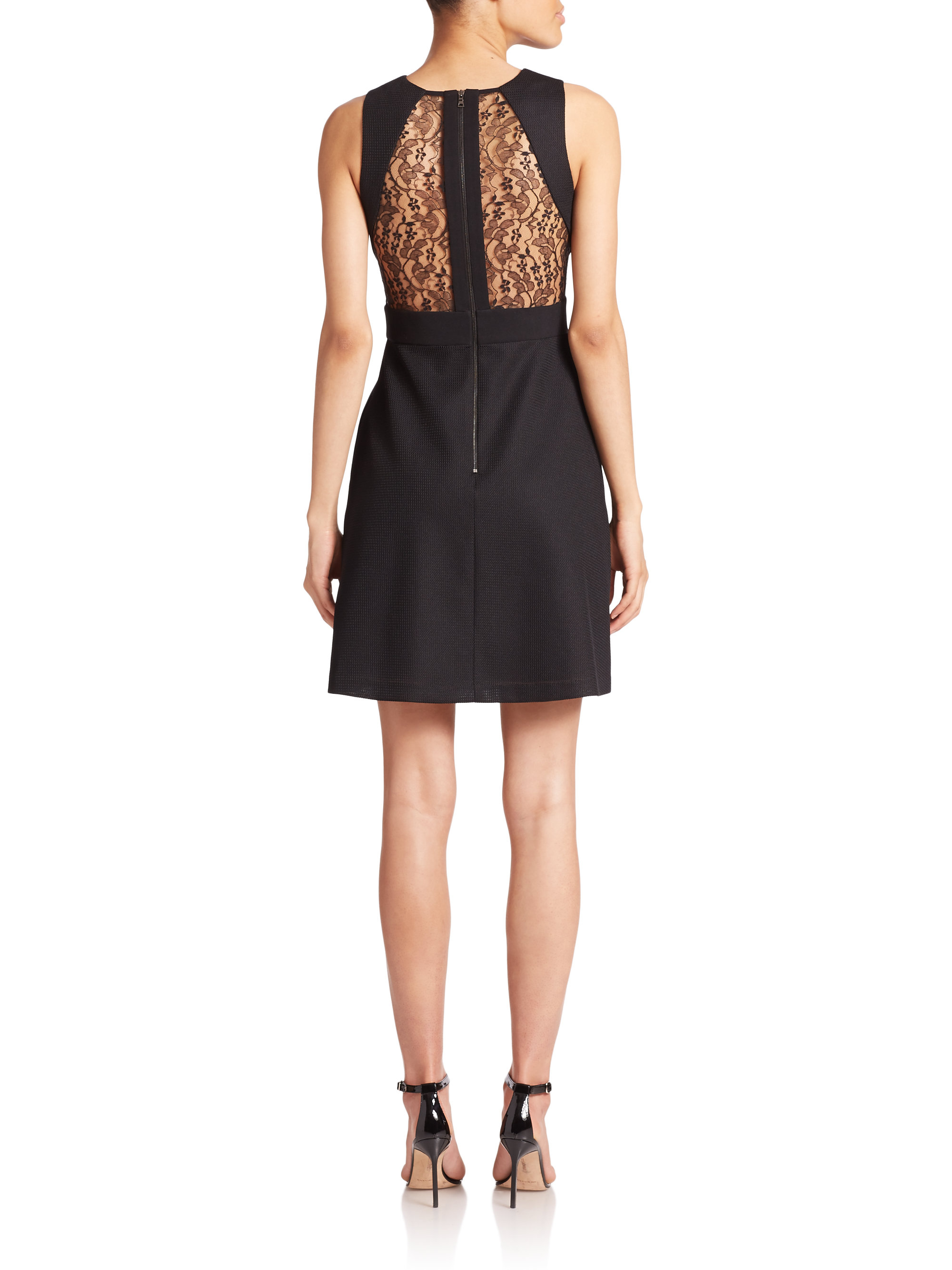 Abs By Allen Schwartz Lace Detail Fit Amp Flare Dress In