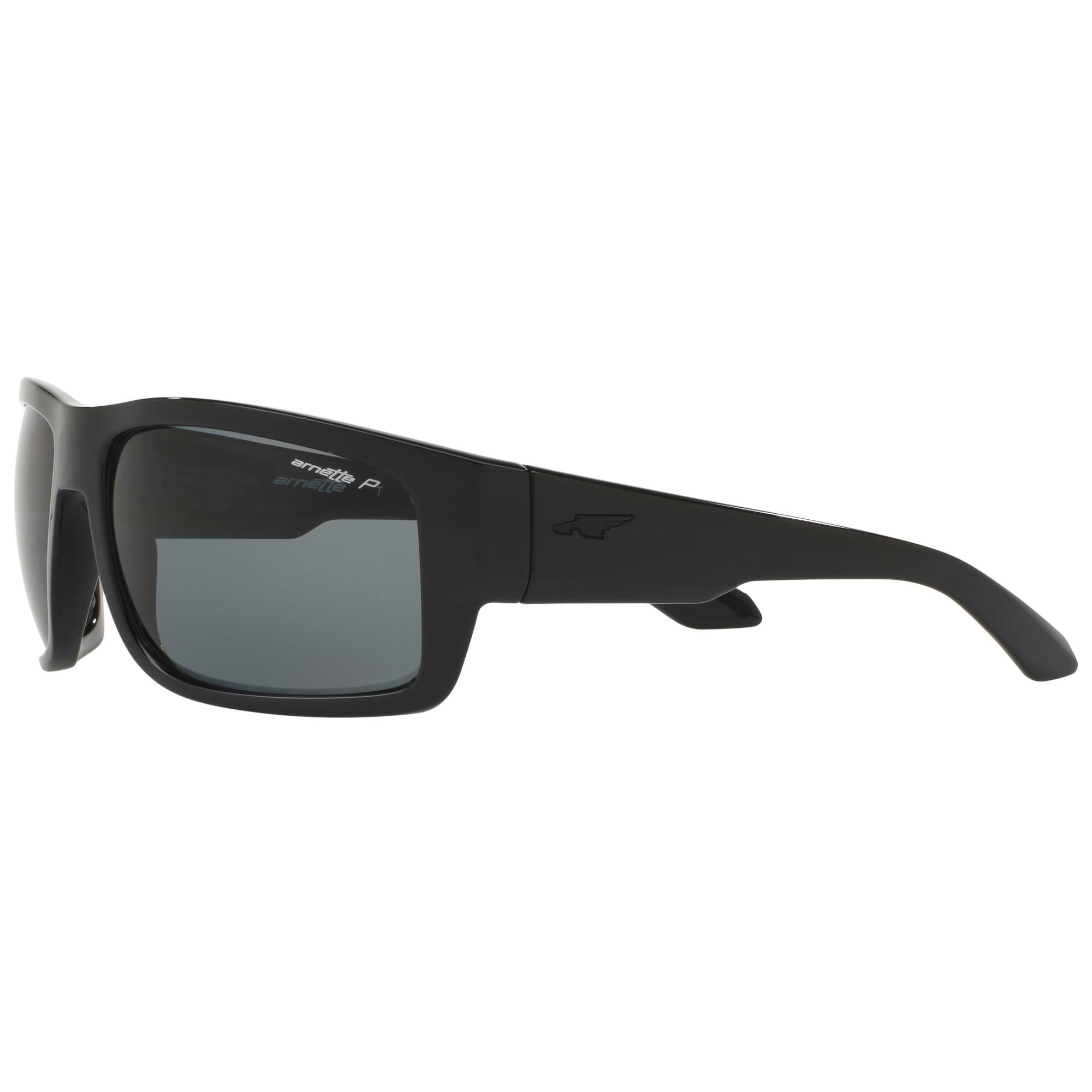 Arnette An4221 Rectangular Polarised Sunglasses in Black