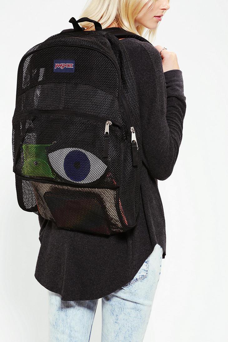 Jansport Mesh Backpack In Black