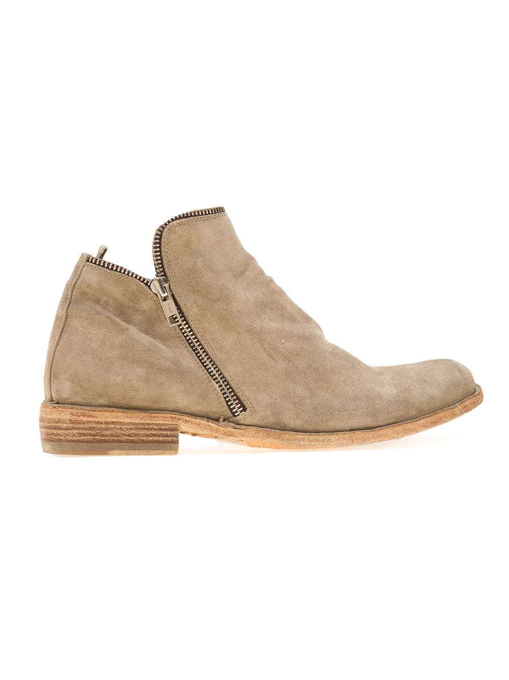 Officine Creative Zipped Boot in Natural