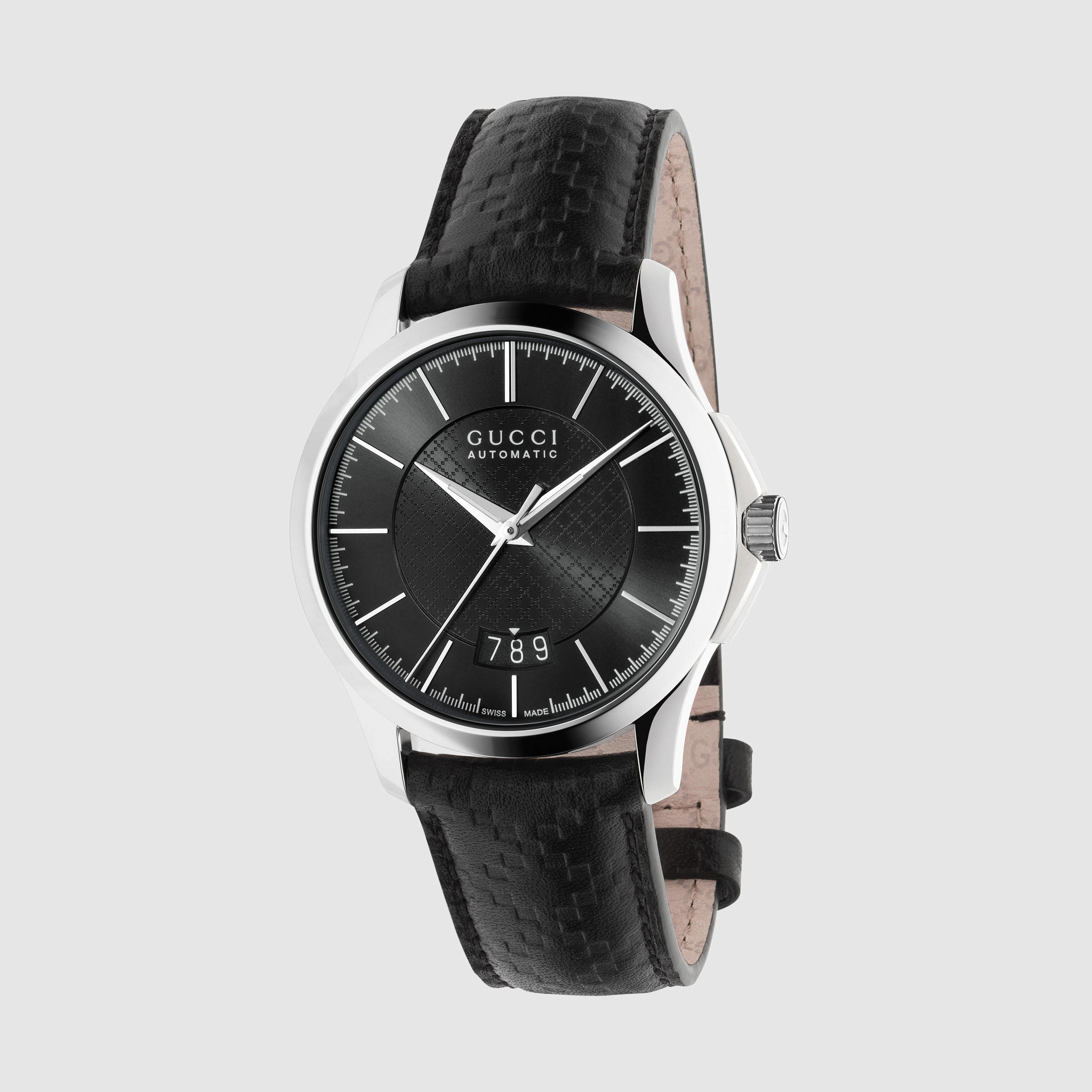 49837fc3b38 Gucci G-timeless Medium Leather Watch in Metallic for Men - Lyst