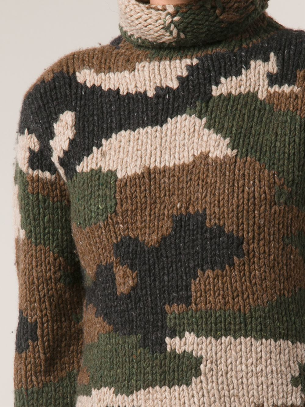 Lyst - Nlst Camouflage Hand Knit Sweater