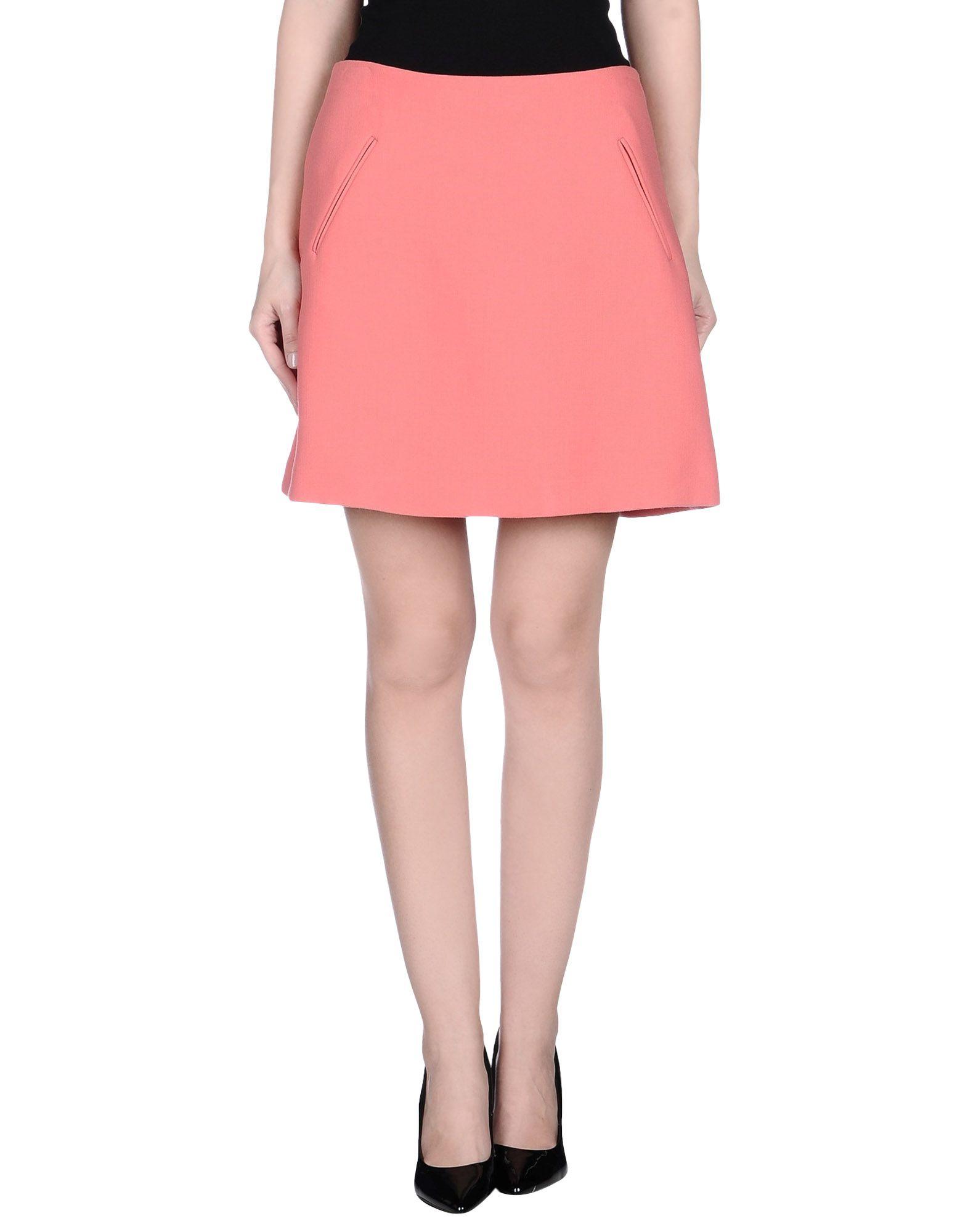 marni knee length skirt in pink lyst