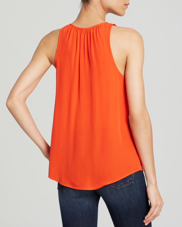 44c5a9deeb7f1c Joie Top Airlan Silk in Orange - Lyst