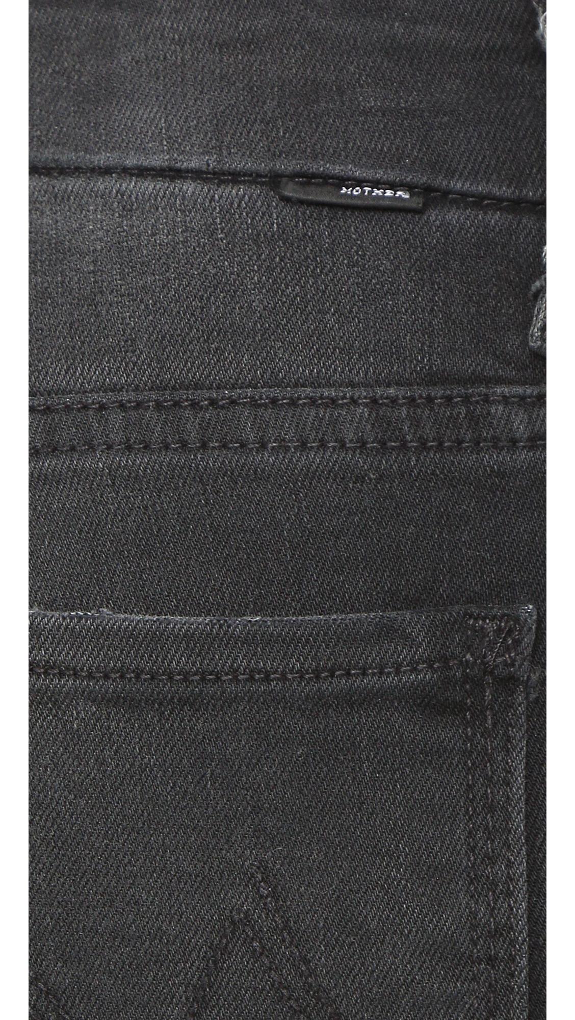 Mother The High Waist Looker Jeans - Wait Until Dark in Black