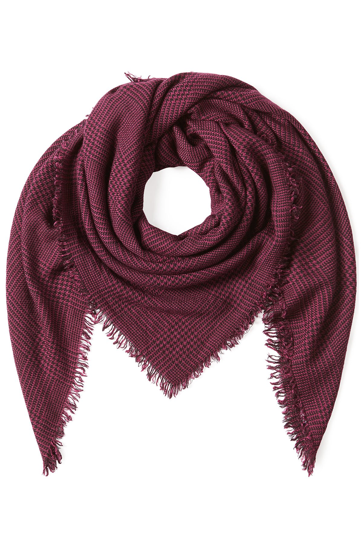 faliero sarti printed scarf with wool and