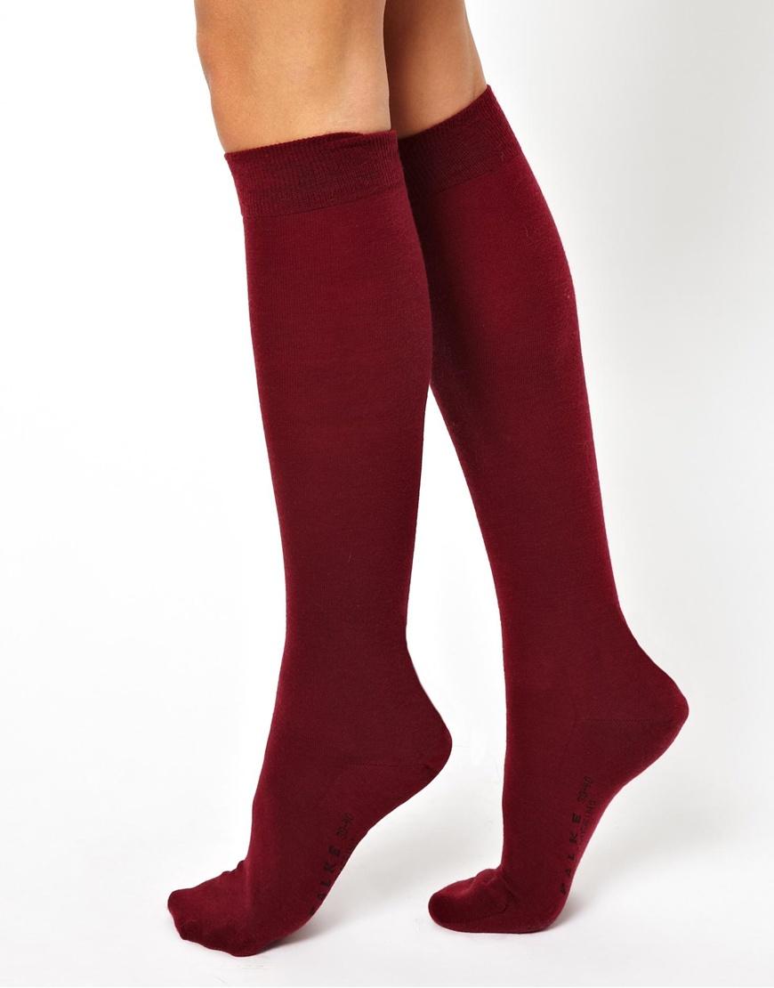 9fd805a9386 Falke Soft Merino Knee High Socks in Red - Lyst