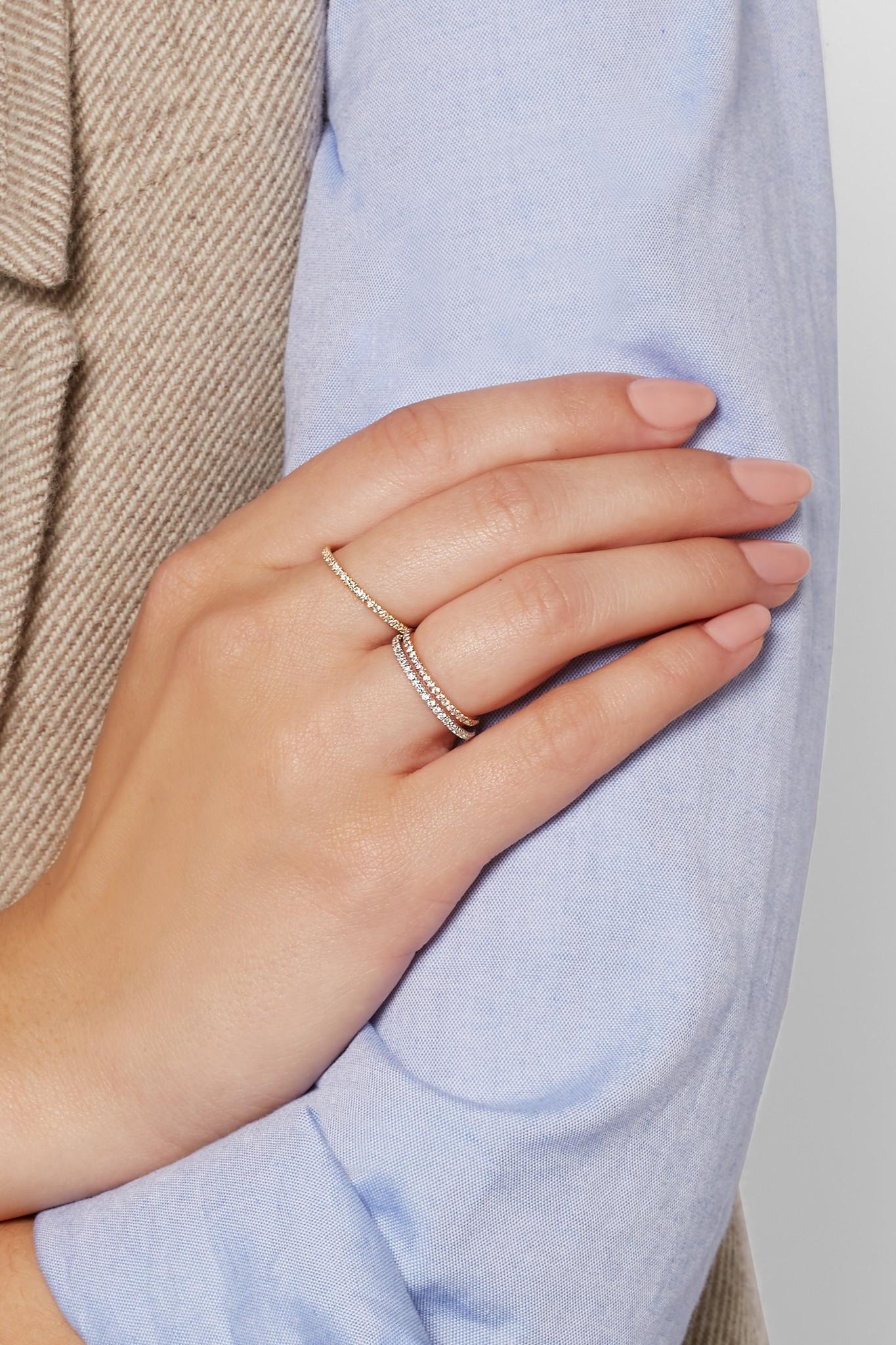 Ileana Makri Thread 18-karat Rose Gold Diamond Eternity Ring udPamN