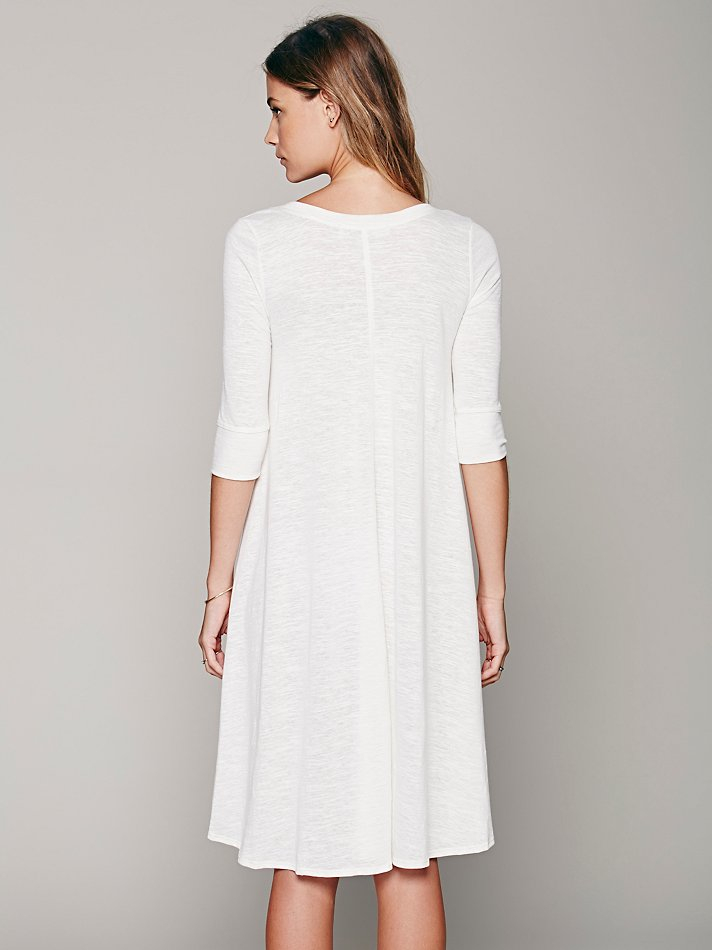 Free people Fp Beach Womens Drippy Jersey Dress in White  Lyst
