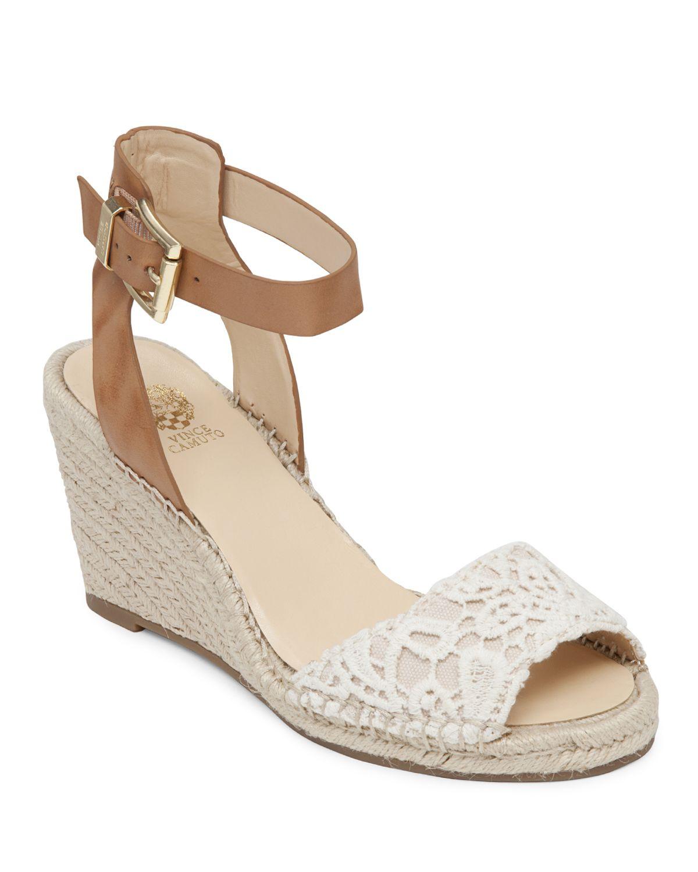 Vince Camuto Open Toe Platform Wedge Espadrille Sandals