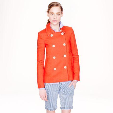 Cotton Pea Coat Womens