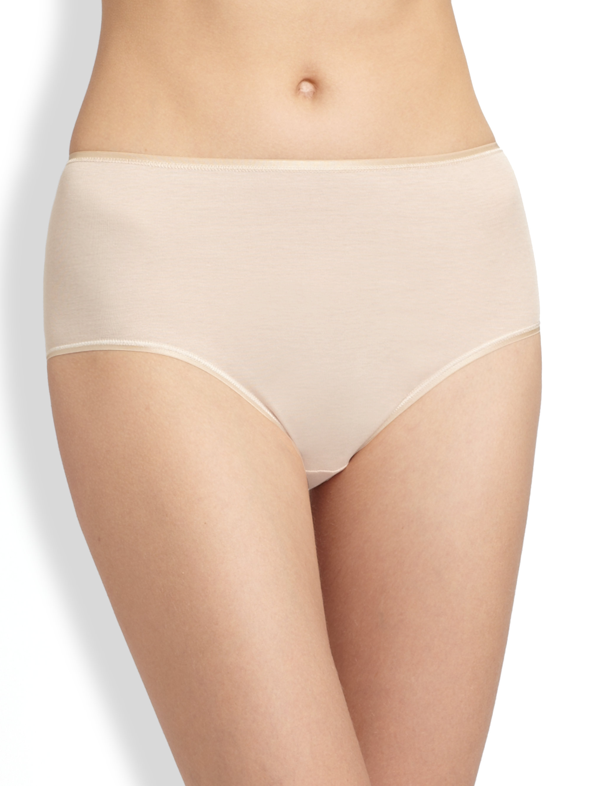 Hanro Cotton Seamless Full Brief In Natural Lyst